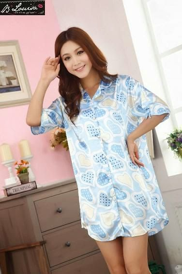 Dress Tidur SL1040 Blue Love