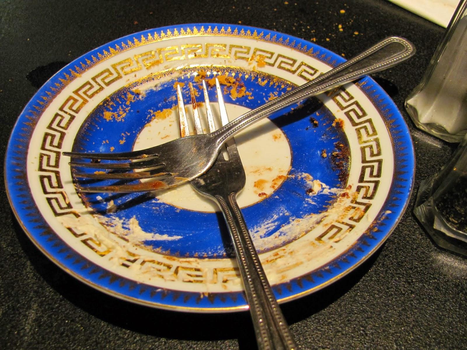 An empty plate at Queen of Tarts Dublin, Ireland