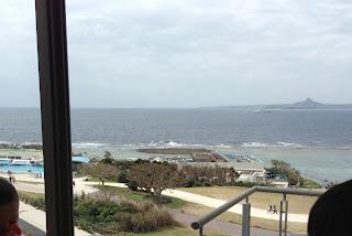 美ら海水族館の海が見えるレストランイノー