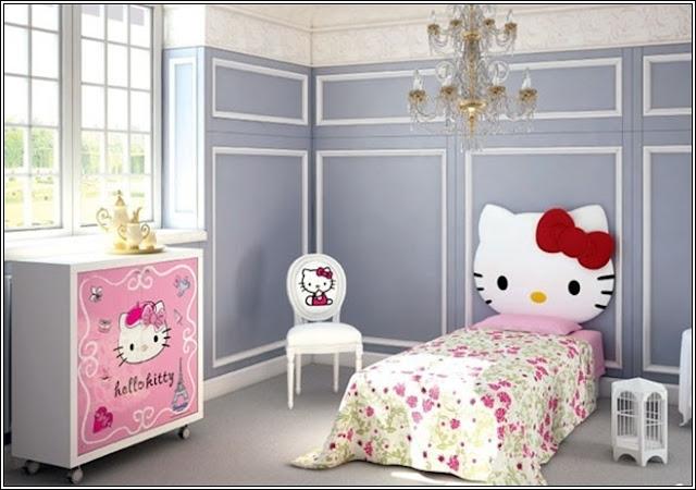 d corez la chambre de votre petite fille avec hello kitty th me d cor de maison. Black Bedroom Furniture Sets. Home Design Ideas