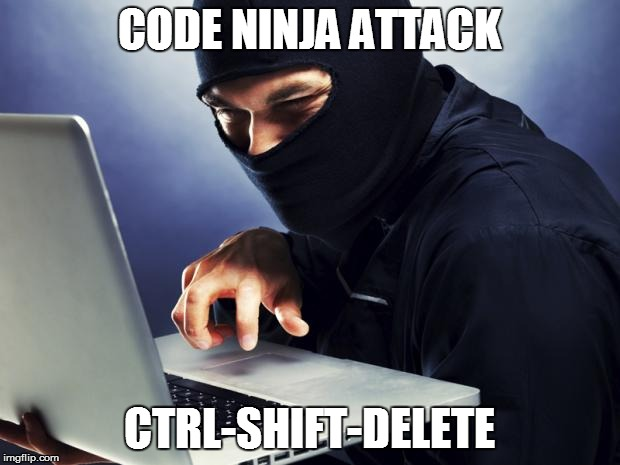 ctrl-shift-delete