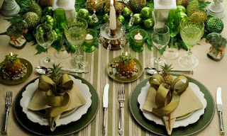 Christmas table decoration Green Color, Part 1