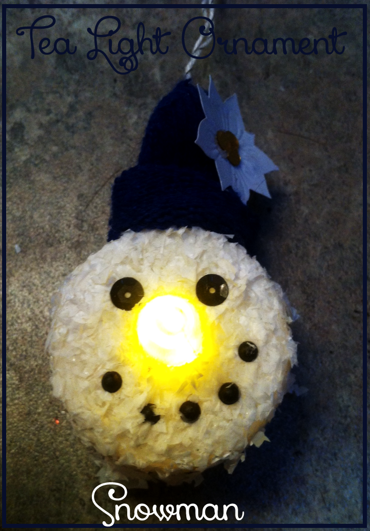 Easy Craft Project DIY Snowman Ornament, Light Up Nose!
