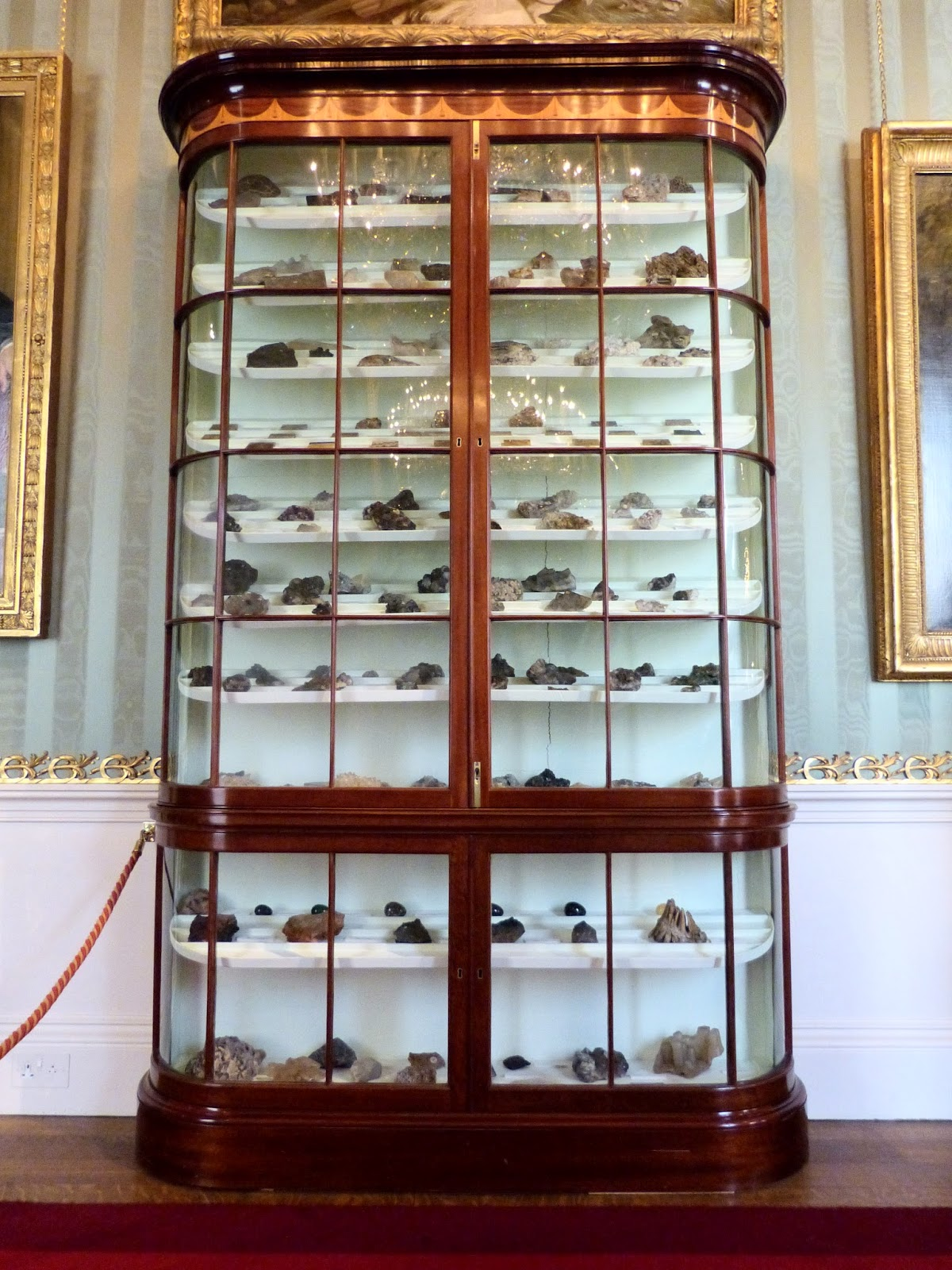 Display case in South Sketch Gallery, Chatsworth