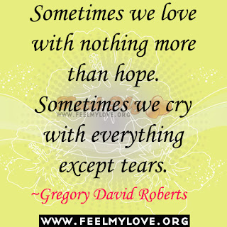 Sometimes we love with nothing