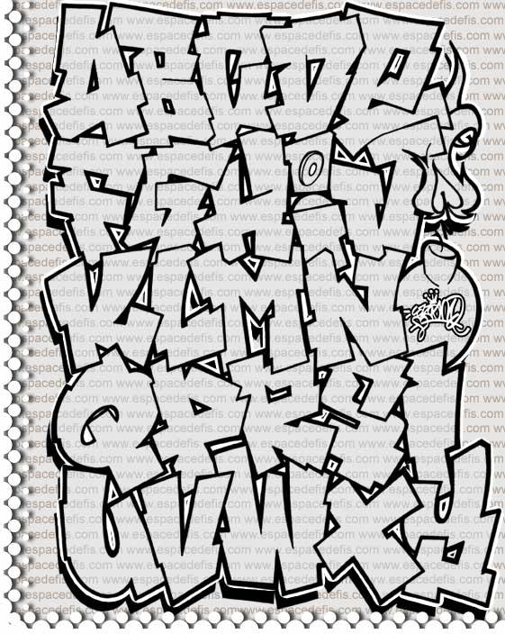 Abecedario en 3d graffitis imagui - L alphabet en graffiti ...