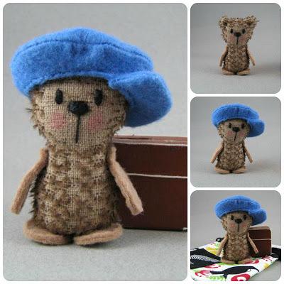 mohair bear, teddy bear, felt, plushie