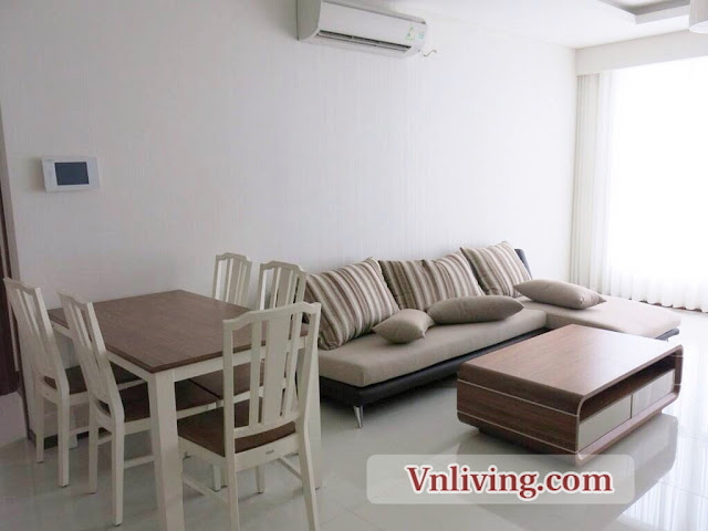 Living Room Thao Dien Pearl 3 Bedrooms For Rent Saigon  River View