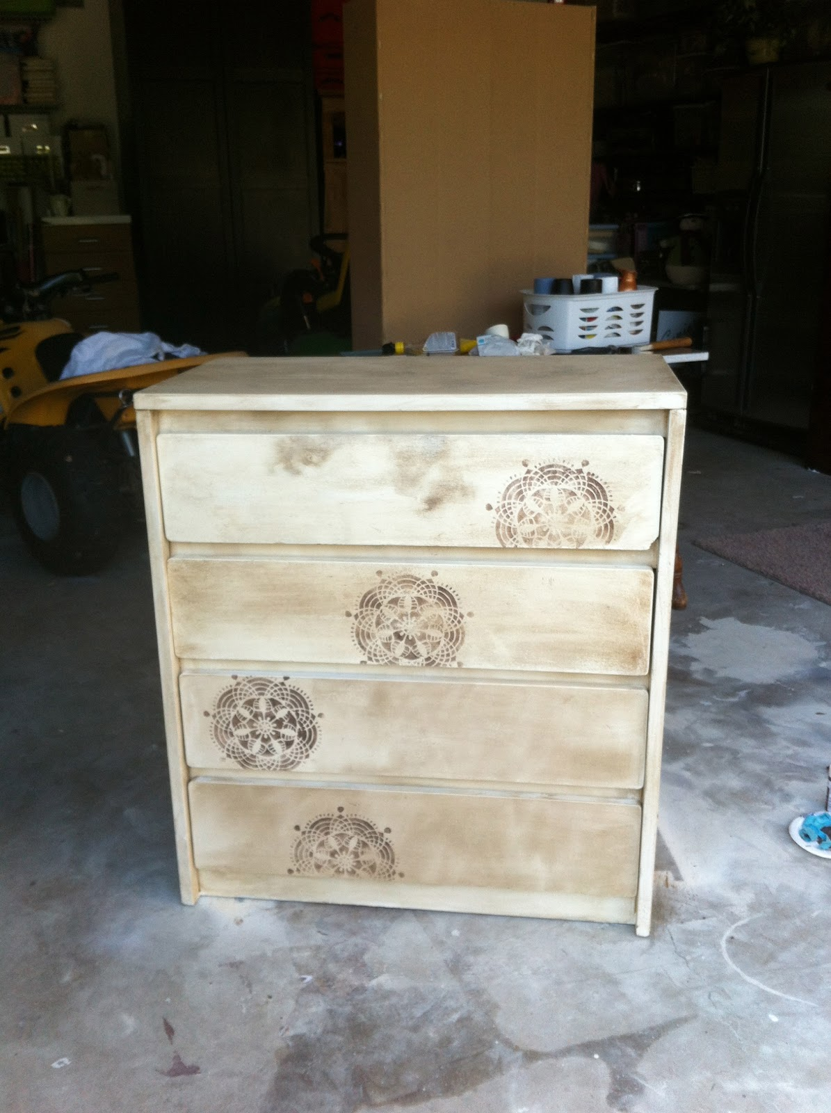 Spray Paint Dresser Silver