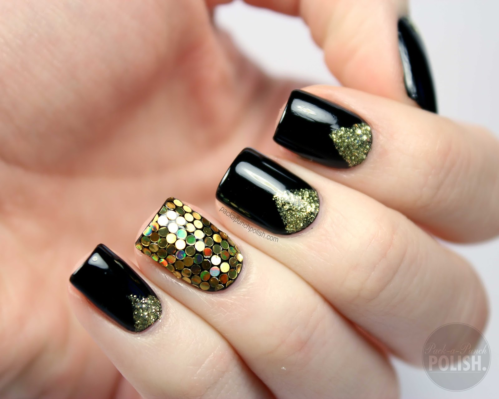 Packapunchpolish new years eve nail art tutorial new years eve nail art tutorial prinsesfo Images