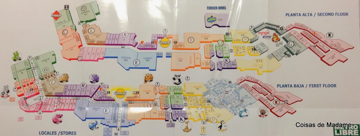 mapa shopping Albrook Mall