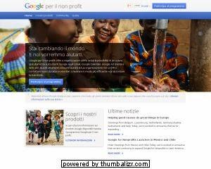google non profit italia volontariato Onlus