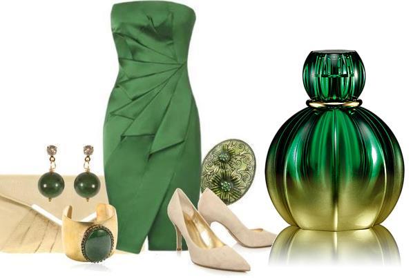 vestido verde de gala