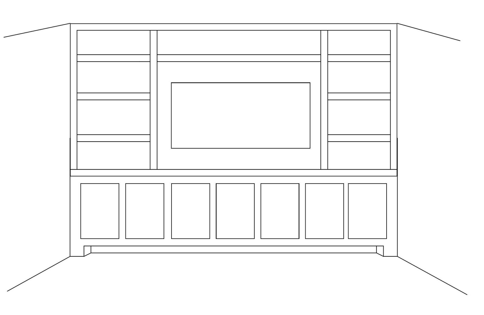 built in wall shelf plans