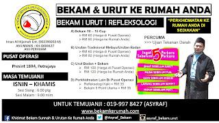 Khidmat Bekam & Urut Ke Rumah Anda Di Putrajaya & Kuantan