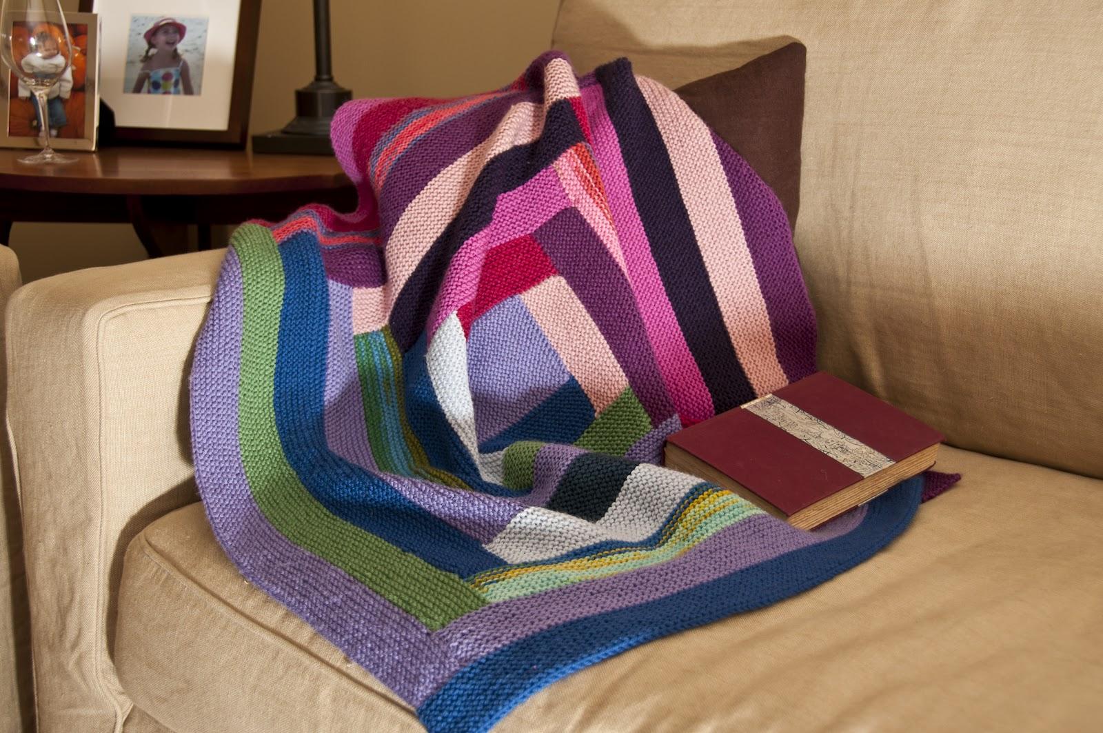 Classic Elite Yarns: Liberty Wool Print Log Cabin Blanket