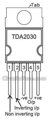 10w audio amplifier circuit by tda2030 circuitstunetda2030 pin diagram