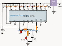 Up/Down LED Indicator Circuit using LM3915