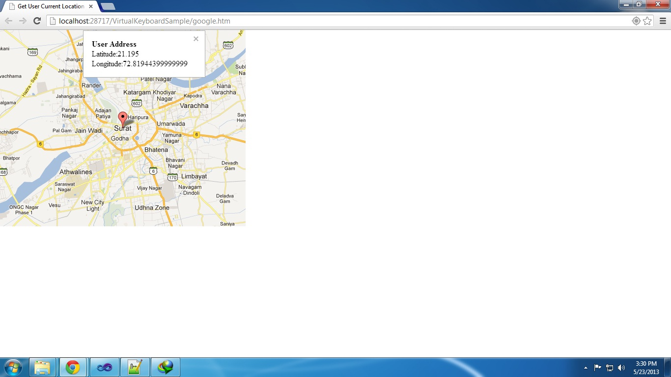 How To Show User Current Location On Google Map Using Geo Location - Google map user location
