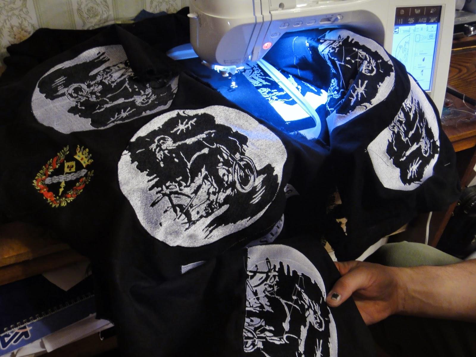 Машинная вышивка на заказ - байкерские нашивки заказать - от одного экземпляра, отправка по России
