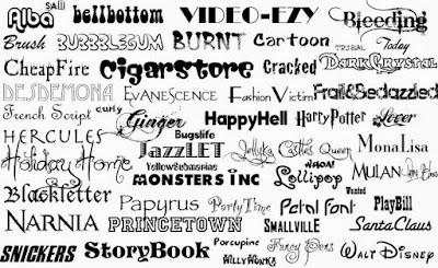 Kumpulan Font Distro
