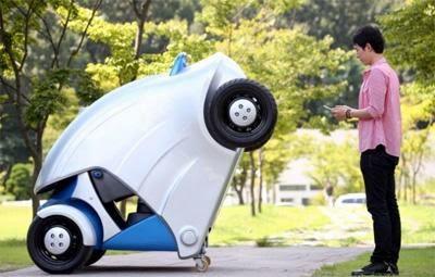 كوريا تطلق أول سيارة قابلة للطي - korea car fold