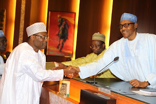 President Buhari swore in new INEC Chairman and Commissioners