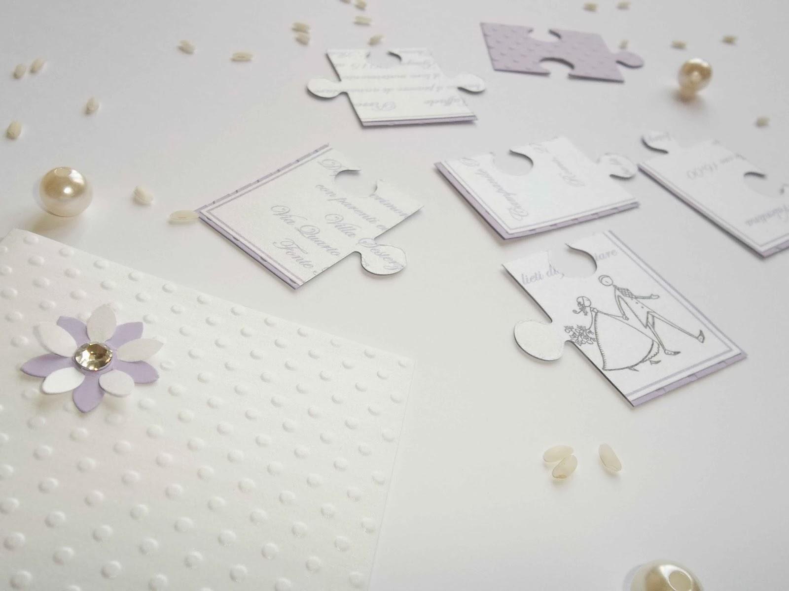 Molto Sara Crea: Partecipazioni a puzzle per matrimoni, battesimi  XW65