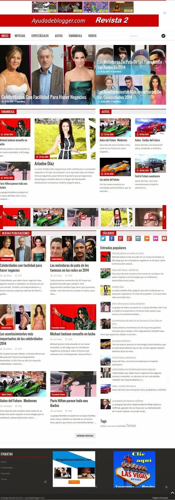 Plantillas Blogger – Línea Revista 2