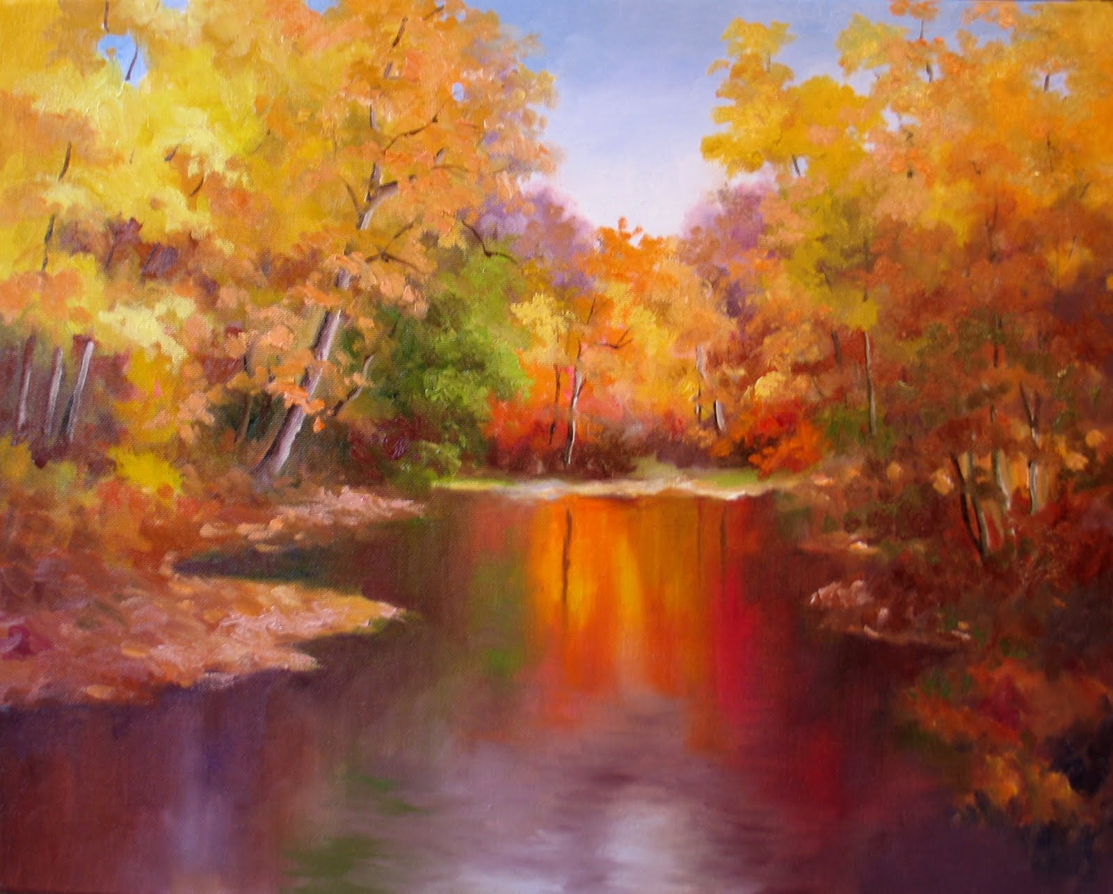 Nel 39 s everyday painting 3 6 11 3 13 11 for Fall pictures to paint