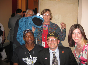 Sgt Ron with the actual voice cast of Sesame Street...and puppets lol