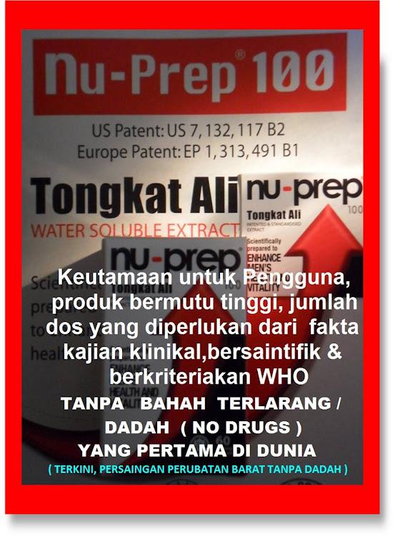 Dos yang diperlukan dari kajian klinikal berkriteriakan WHO NuPrep100 US,EUpatent long jack