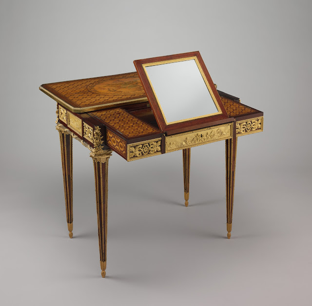 Mechanical Table Jean-Henri Riesener, 1781, Château de Versailles and Château de Saint Cloud, France Marie Antoinette, Queen of France