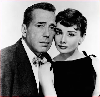 Humphrey Bogart y Audrey Hepburn