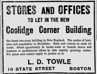 1912 Ad for Coolidge Corner Building