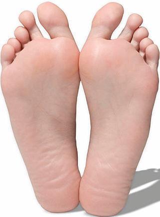 Foto de las palmas de los pies del ser humano
