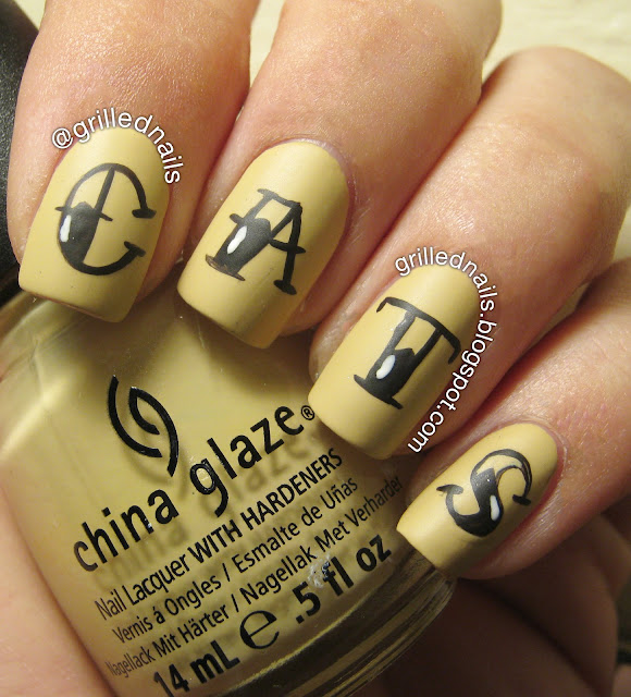 grillednails hector alfaro ngrillednails hector alfaro nails grilled nail art cats bude tattoo China Glaze font february challenge californails