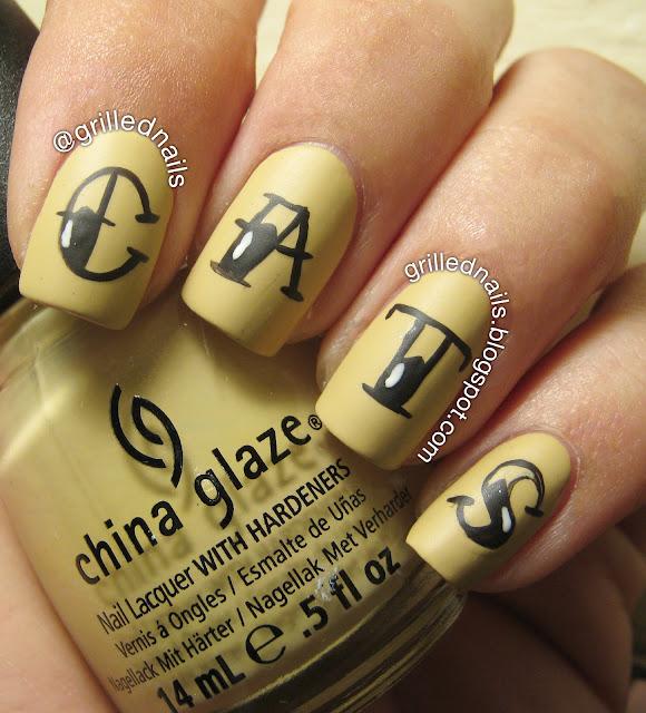 grillednails hector alfaro ngrillednails hector alfaro nails grilled nail art cats bude tattoo China Glaze font february challenge californails