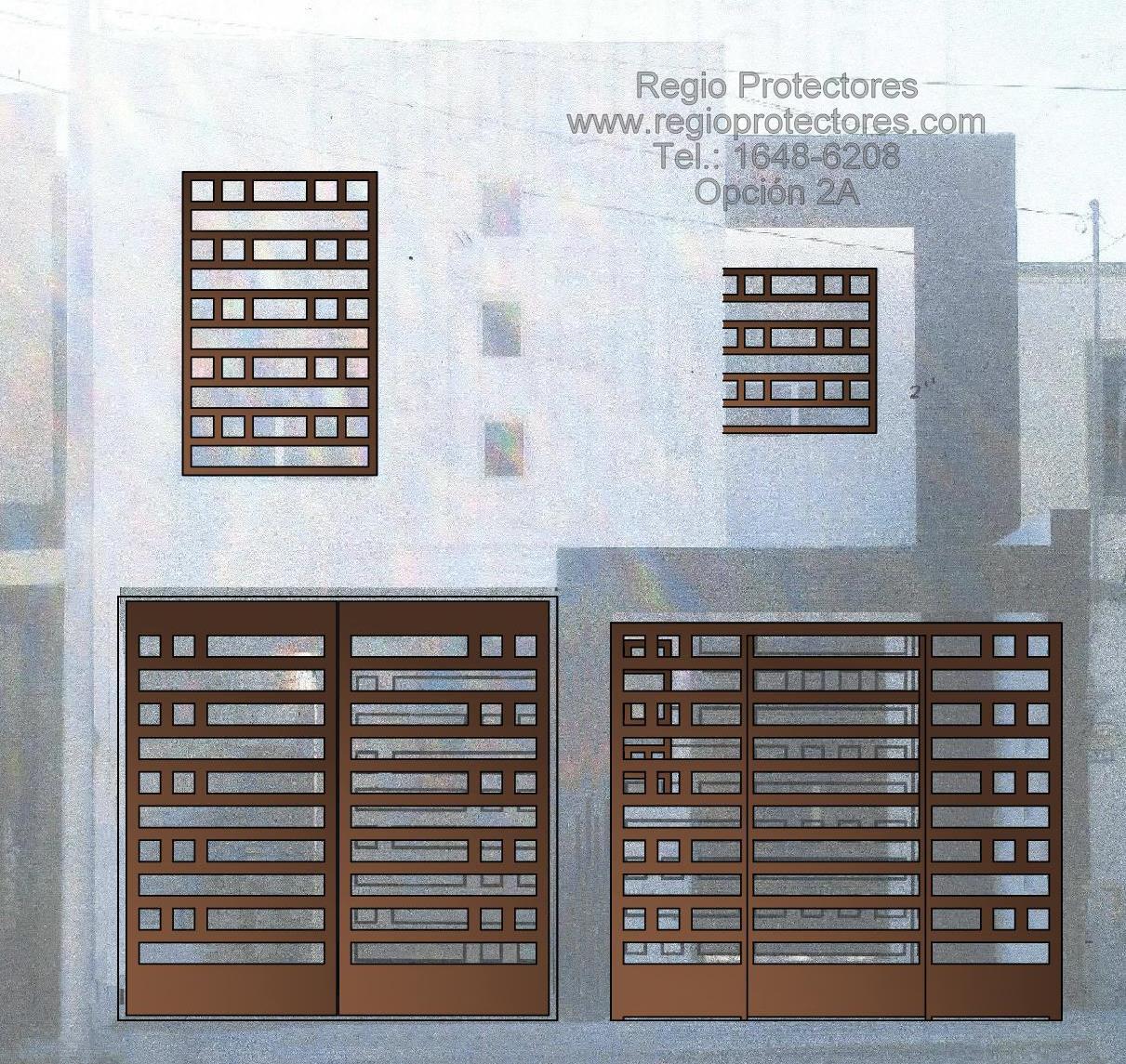 Portón abatible y rejas, Fracc. Paseo de las Palmas, Foto montaje