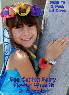 Make Egg Carton Flower Wreaths and Bracelets