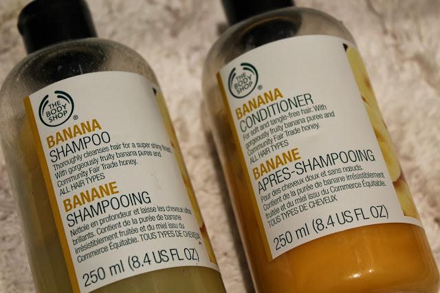 Banana Shampoo and Conditioner Body Shop Review