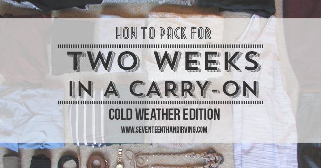 TRAVEL LIGHT DURING THE WINTER