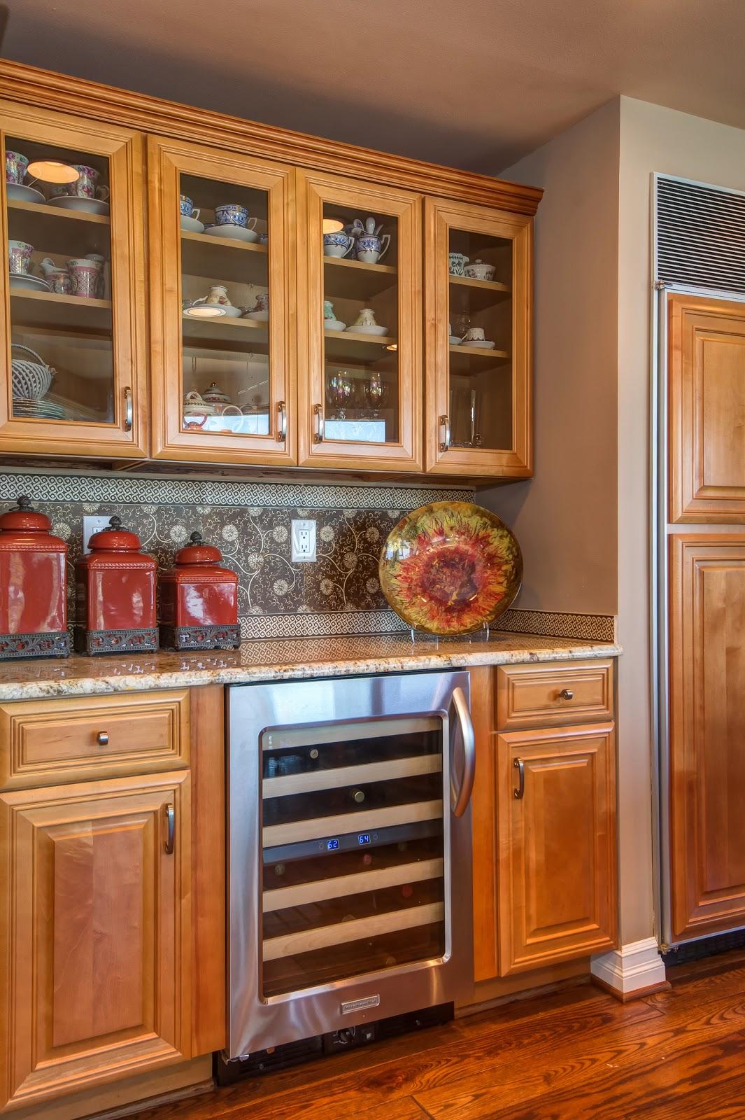 Detail Of Kitchen With Wine Storage.