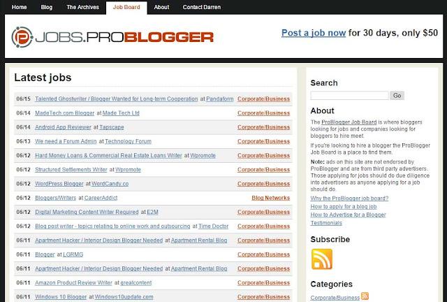 ProBlogger Job