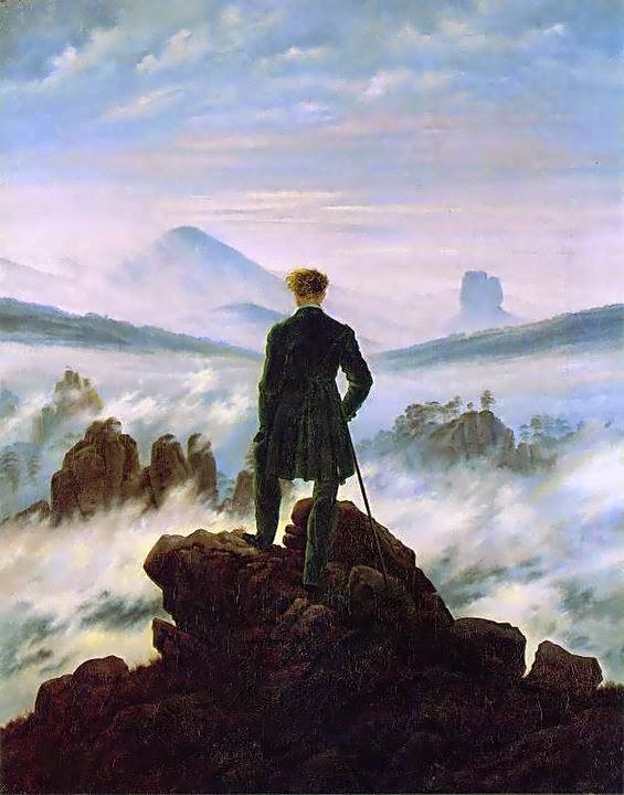 Caminante sobre un mar de nubes, 1918 de Caspar David Friedrich