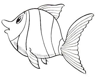 Desenhos de Peixes para imprimir