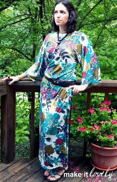 stylish maxi dress sewing tutorial