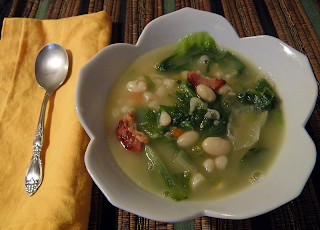 Bowl of Escarole and Bean Soup