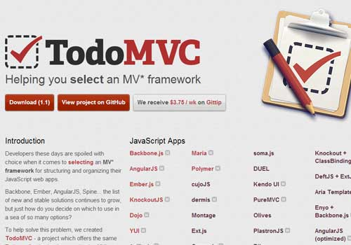 TodoMVC ~ 43 Useful and Time Saving Web Development Kits and Frameworks
