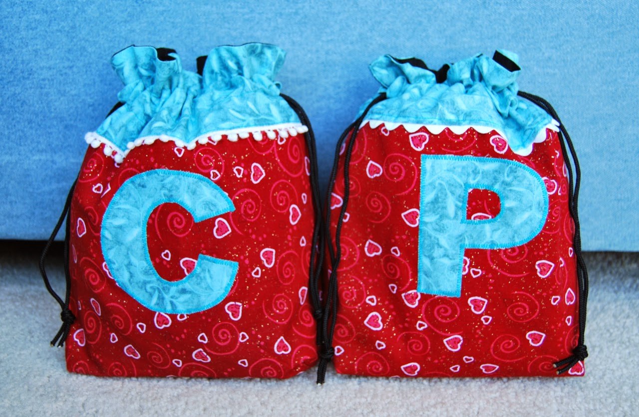 Valentine's Day reusable drawstring gift bags